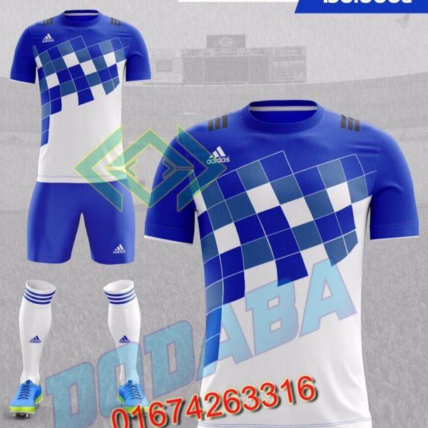 đồ đá banh không logo adidas xanh đẹp nhất